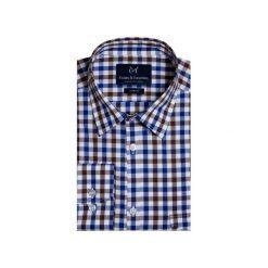 Koszula 1911 8. Niebieskie koszule męskie na spinki Guns&tuxedos, z bawełny, z klasycznym kołnierzykiem. Za 129,99 zł.