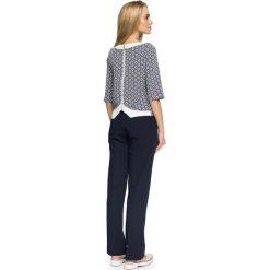 GABRIELE Bluzka z rękawami 3/4 - model 2. Szare bluzki asymetryczne Stylove, z nadrukiem, eleganckie, z długim rękawem. Za 129,99 zł.