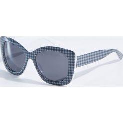 Okulary przeciwsłoneczne damskie aviatory: Okulary przeciwsłoneczne w kratkę – Wielobarwn
