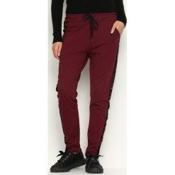 Spodnie dresowe damskie: Bordowe Spodnie Dresowe Comfy