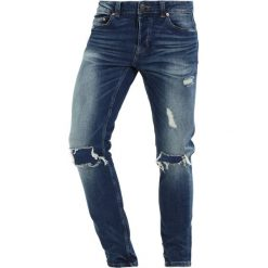 Only & Sons ONSAVI LOOM Jeans Skinny Fit medium blue denim. Niebieskie jeansy męskie marki Only & Sons. W wyprzedaży za 167,20 zł.
