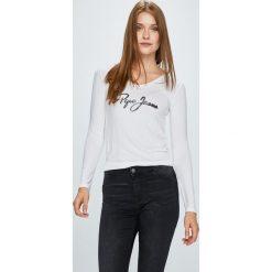 Pepe Jeans - Bluzka Mara. Szare bluzki asymetryczne Pepe Jeans, l, z nadrukiem, z dzianiny, casualowe. W wyprzedaży za 159,90 zł.