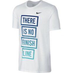 Odzież sportowa męska: koszulka do biegania męska NIKE RUN DRI-FIT BLEND THERE IS NO FINISH LINE TEE / 778353-100