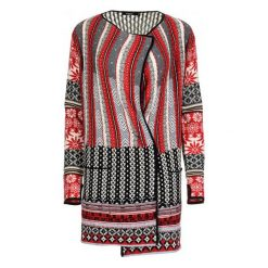 Swetry damskie: Desigual Sweter Damski Call M Czerwony