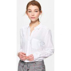 Gładka koszula - Biały. Białe koszule damskie marki Cropp, l. Za 59,99 zł.
