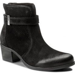 Botki LASOCKI - GUSTA-02 Czarny. Czarne buty zimowe damskie Lasocki, z materiału, na obcasie. Za 249,99 zł.