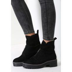 Czarne Zamszowe Botki Dancing Barefoot. Czarne buty zimowe damskie vices, z zamszu. Za 99,99 zł.