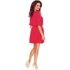 Sukienki: JENNIFER zwiewna sukienka czerwona w grochy