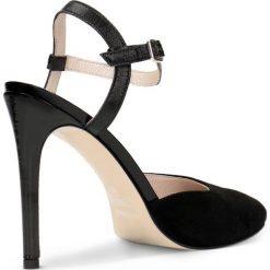 Czółenka MELANIA. Czarne buty ślubne damskie Gino Rossi, ze skóry, na wysokim obcasie. Za 129,90 zł.