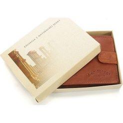 DARIEL Elegancki skórzany portfel męski Bag Street w pudełku Brązowy. Brązowe portfele męskie Bag Street, ze skóry. Za 39,00 zł.