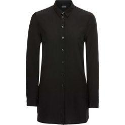 Długa bluzka bonprix czarny. Czarne bluzki asymetryczne bonprix, eleganckie, z długim rękawem. Za 89,99 zł.