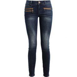 Mos Mosh BERLIN ZIP LONG Jeansy Slim Fit dark blue denim. Niebieskie boyfriendy damskie Mos Mosh. W wyprzedaży za 389,35 zł.