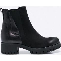 CheBello - Kozaki. Czarne buty zimowe damskie CheBello, z materiału, z okrągłym noskiem. W wyprzedaży za 219,90 zł.
