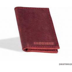 Portfele męskie: Skórzany męski czerwony cienki portfel