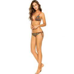 """Biustonosz bikini """"Galapagos"""" z kolorowym wzorem. Brązowe biustonosze z fiszbinami PHAX, z aplikacjami, z materiału. W wyprzedaży za 152,95 zł."""