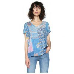 Desigual Desigual T-Shirt Damski Xs Niebieski. Szare t-shirty damskie marki Desigual, l, z tkaniny, casualowe, z długim rękawem. W wyprzedaży za 189,00 zł.