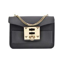 Torebka w kolorze czarnym - (S)19,5 x (W)14 x (G)7 cm. Czarne torebki klasyczne damskie Bestsellers bags, w paski, z materiału. W wyprzedaży za 199,95 zł.