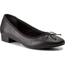 Półbuty TAMARIS - 1-22201-39 Black Leather 003. Szare półbuty damskie skórzane marki Tamaris. W wyprzedaży za 169,00 zł.