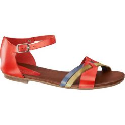 Rzymianki damskie: sandały damskie 5th Avenue czerwone
