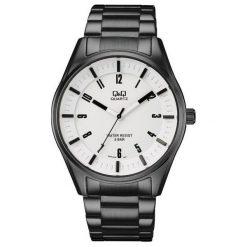 Biżuteria i zegarki męskie: Zegarek Q&Q Męski QA54-404 Sportowy czarny