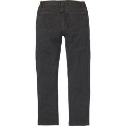 Dżinsy z elastycznymi wstawkami w talii CLASSIC FIT STRAIGHT bonprix czarny. Czarne jeansy męskie regular bonprix. Za 74,99 zł.