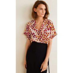 Mango - Koszula Topete. Różowe koszule wiązane damskie Mango, l, z materiału, z krótkim rękawem. Za 139,90 zł.
