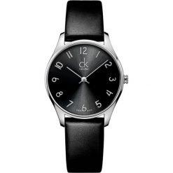 ZEGAREK CALVIN KLEIN CLASSIC MIDSIZE K4D221CX. Czarne zegarki męskie marki Calvin Klein, szklane. Za 679,00 zł.