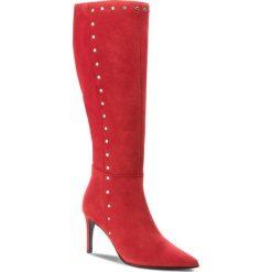 Kozaki EVA MINGE - Mejorada 4S 18SF1372603EF 808. Czerwone buty zimowe damskie Eva Minge, ze skóry, na obcasie. W wyprzedaży za 569,00 zł.