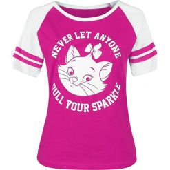 Aristocats Never Let Anyone Koszulka damska różowy/biały. Białe bluzki z odkrytymi ramionami Aristocats, xxl, z nadrukiem, z okrągłym kołnierzem. Za 99,90 zł.