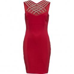 Sukienka wieczorowa bonprix czerwony chili. Czerwone sukienki balowe bonprix, z aplikacjami. Za 179,99 zł.
