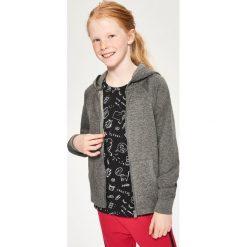Bluza z kapturem - Szary. Czarne bluzy dziewczęce rozpinane marki Reserved, l, z kapturem. Za 99,99 zł.