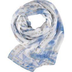 Szaliki damskie: Szal w kolorze kremowo-niebieskim – 200 x 70 cm