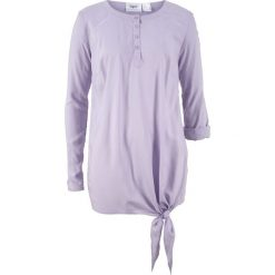 Bluzki damskie: Bluzka z wiskozy, długi rękaw bonprix fiołkowy bez