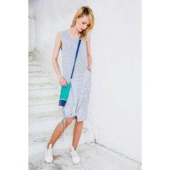 Sukienki: SUKIENKA W PASKI CRAZY LOOK niebieska