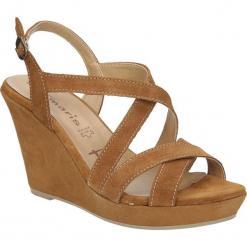 SANDAŁY TAMARIS 1-28362-26. Szare sandały damskie marki Tamaris, z materiału. Za 149,99 zł.