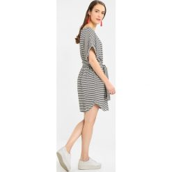 Sukienki hiszpanki: American Vintage MUM SHORT SLEEVE TIE WAIST STRIPE DRESS Sukienka letnia plomb raye blanc