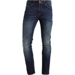 Only & Sons ONSLOOM  Jeansy Slim Fit dark blue denim. Brązowe jeansy męskie marki Only & Sons, l, z poliesteru. Za 209,00 zł.