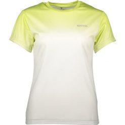 """T-shirty damskie: Koszulka funkcyjna """"Fingal III"""" w kolorze biało-zielonym"""