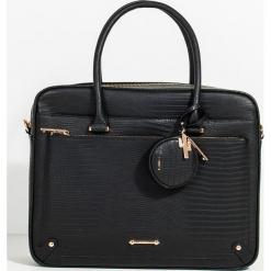 Parfois - Torebka. Czarne torby na laptopa marki NEWFEEL, z materiału. Za 149,90 zł.