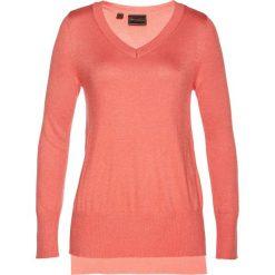 Swetry klasyczne damskie: Sweter z kaszmirem bonprix mandarynka