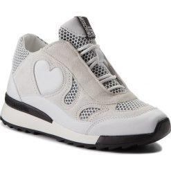 Sneakersy LOVE MOSCHINO - JA15294G05JG210A Bianco. Białe sneakersy damskie marki Love Moschino, z materiału. W wyprzedaży za 529,00 zł.