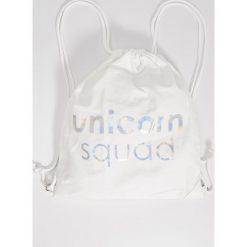 Plecaki damskie: Plecak typu worek – Biały