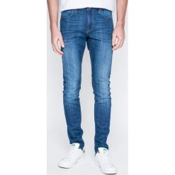 Lee - Jeansy Malone. Niebieskie jeansy męskie skinny Lee, z bawełny. W wyprzedaży za 229,90 zł.