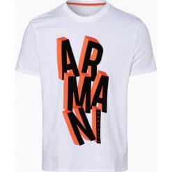 Armani Exchange - T-shirt męski, czarny. Czarne t-shirty męskie z nadrukiem marki Armani Exchange, l, z materiału, z kapturem. Za 169,95 zł.