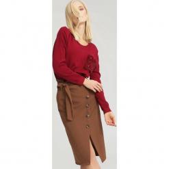 Bordowy Sweter Opuscule. Czerwone swetry klasyczne damskie other, uniwersalny. Za 59,99 zł.