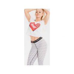 Spodnie dresowe damskie: Real Wear Leginsy 'Kabaretki' białe r. XS
