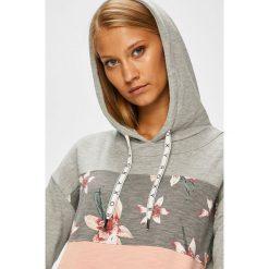 Roxy - Bluza. Szare bluzy rozpinane damskie Roxy, l, z bawełny, z kapturem. Za 279,90 zł.