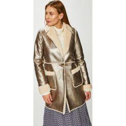 Geox - Płaszcz. Szare płaszcze damskie pastelowe Geox, z materiału. Za 1119,00 zł.