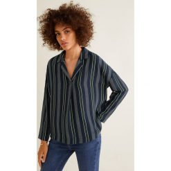 Mango - Bluzka Tuxedo. Czarne bluzki nietoperze Mango, l, z tkaniny, casualowe. Za 119,90 zł.