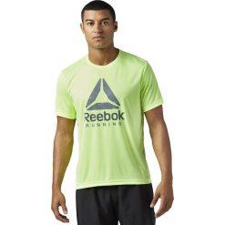 Reebok Koszulka męska Run Graphic Tee zielona r. XL (BR4414). Szare t-shirty męskie marki Reebok, l, z dzianiny, z okrągłym kołnierzem. Za 124,99 zł.